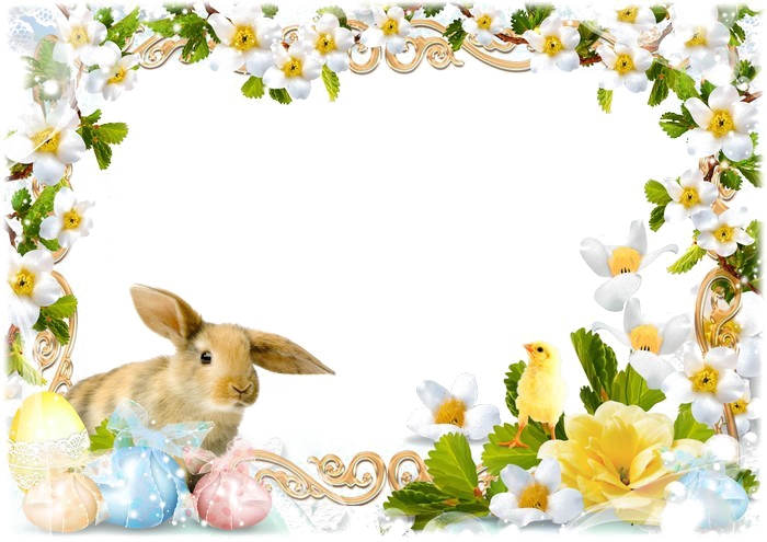 Easter Frame Png (+).