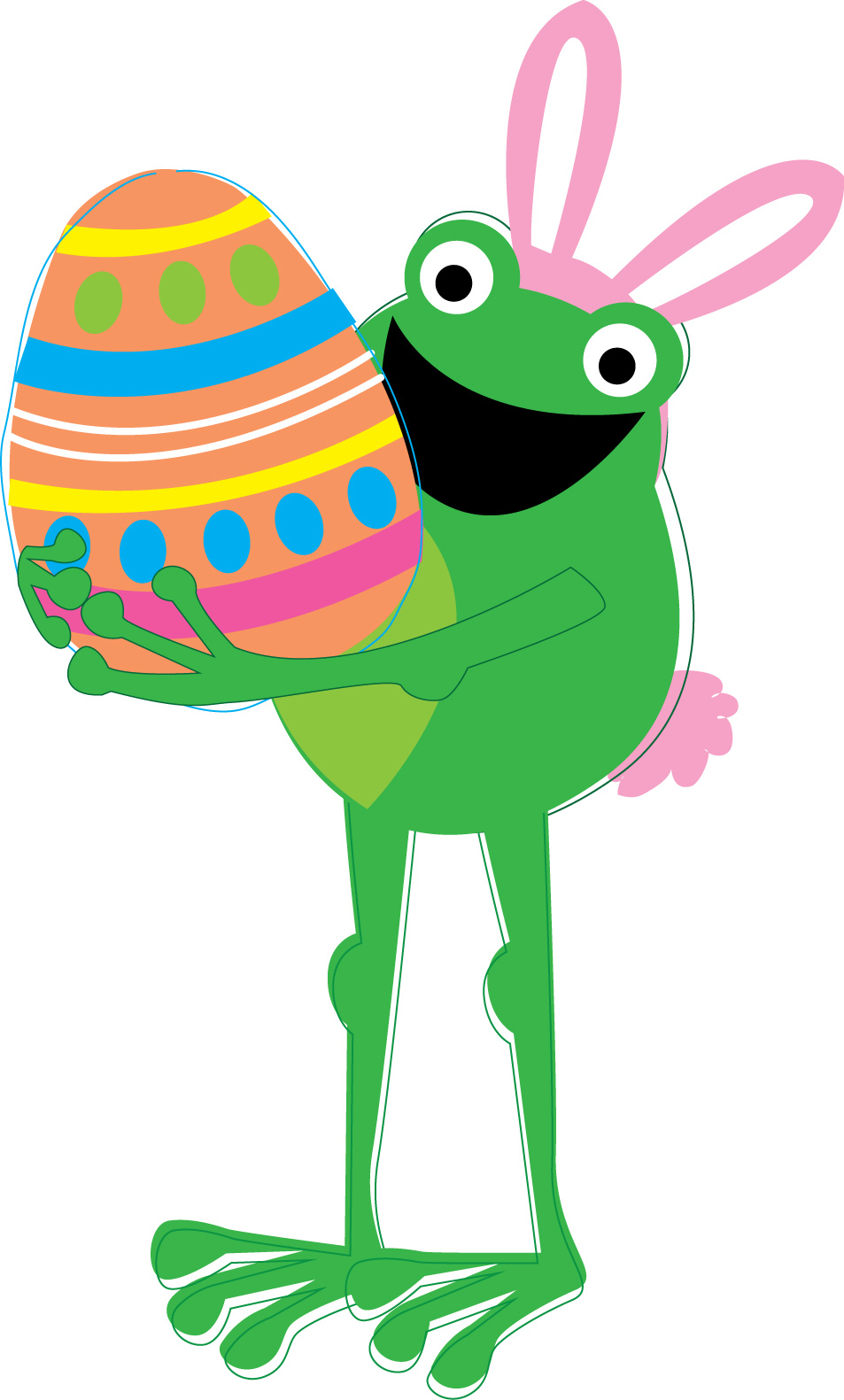 Free Frog Clipart easter, Download Free Clip Art on Owips.com.
