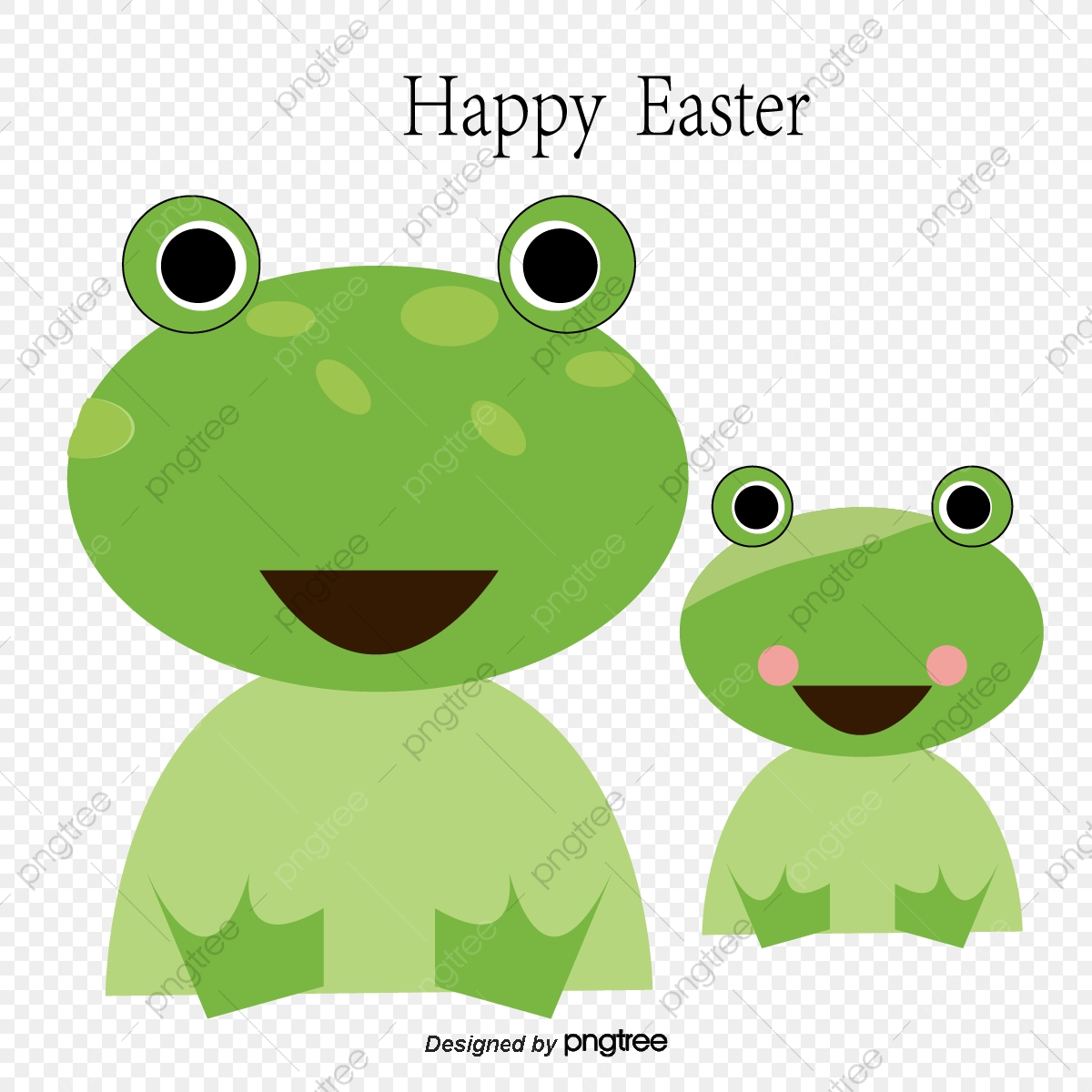 Cute Frog And Chick Vector, Frog Clipart, Cartoon Animals, Cartoon.