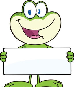Easter Frog Clipart.