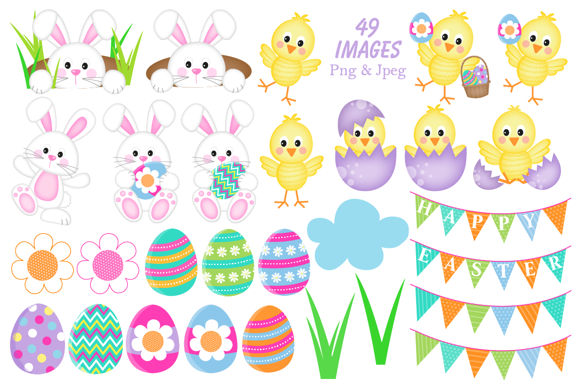 Easter clipart, Easter graphics and illustrations, Easter Bunny By.
