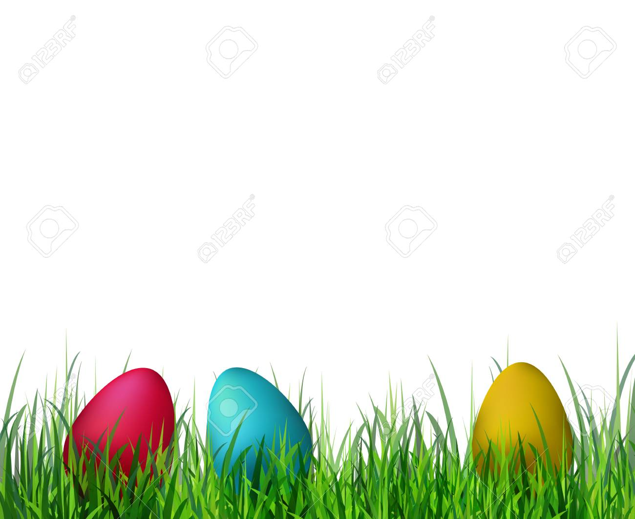 easter eggs on grass clip.