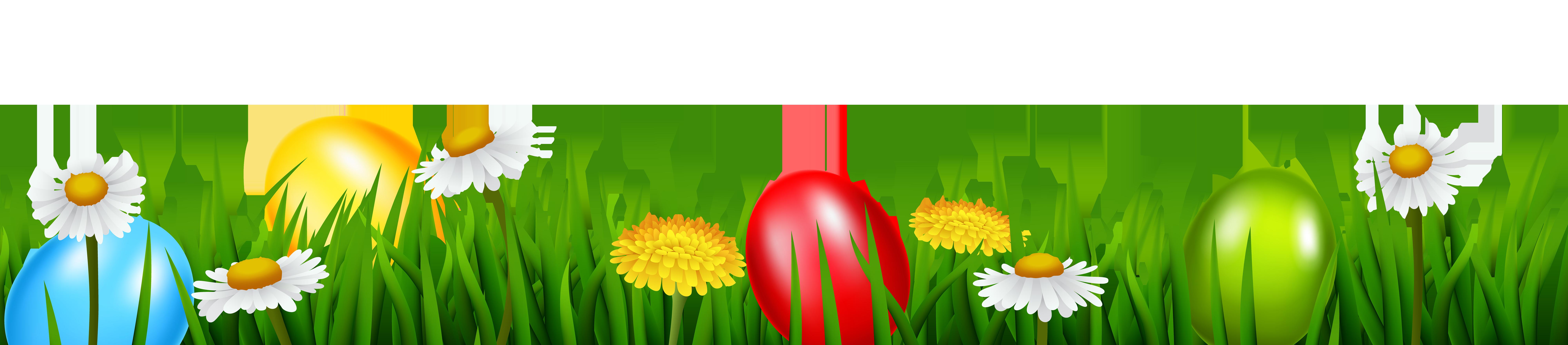 Easter Grass Transparent PNG Clip Art Image.