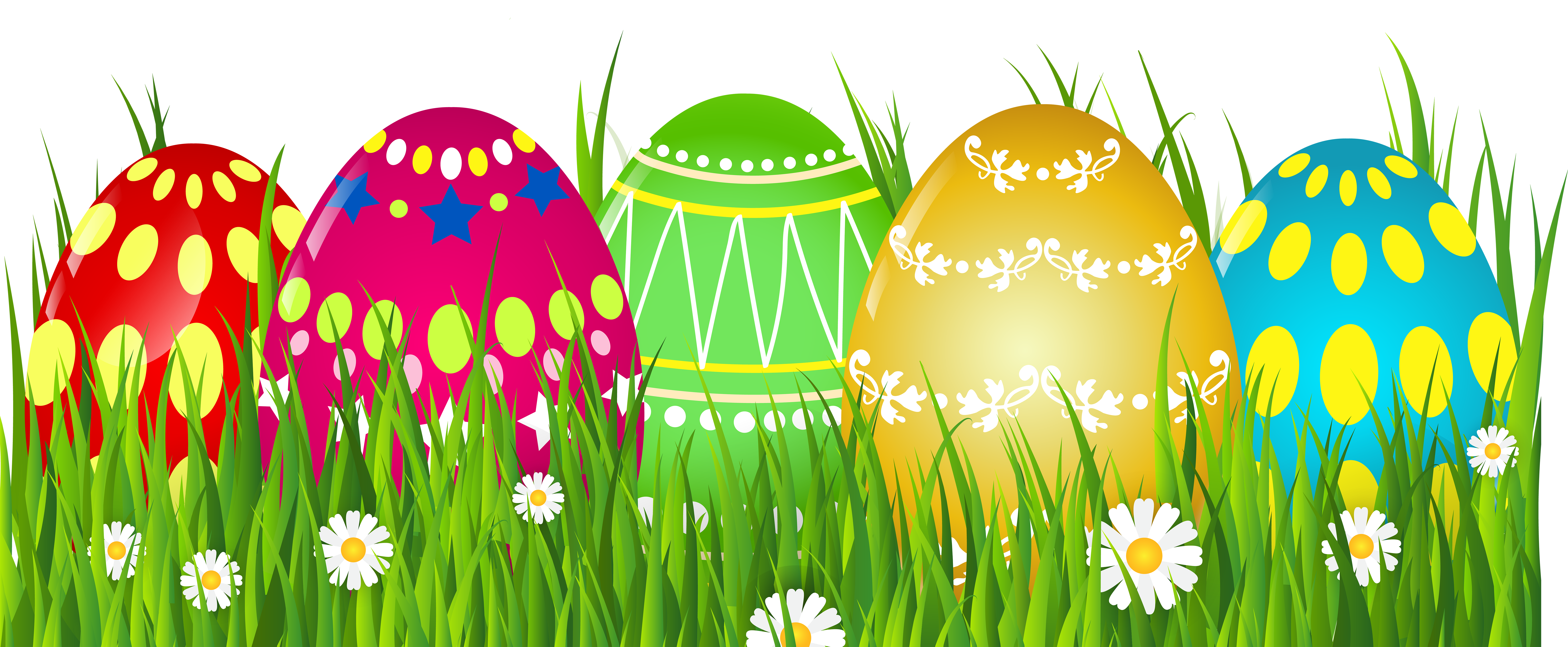 Easter Grass Clipart Image.
