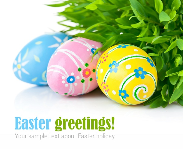 Easter greetings clipart.