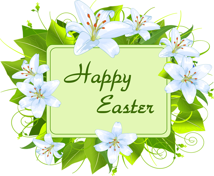 Happy easter greeting clipart.