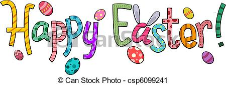 Clipart of Happy Easter.