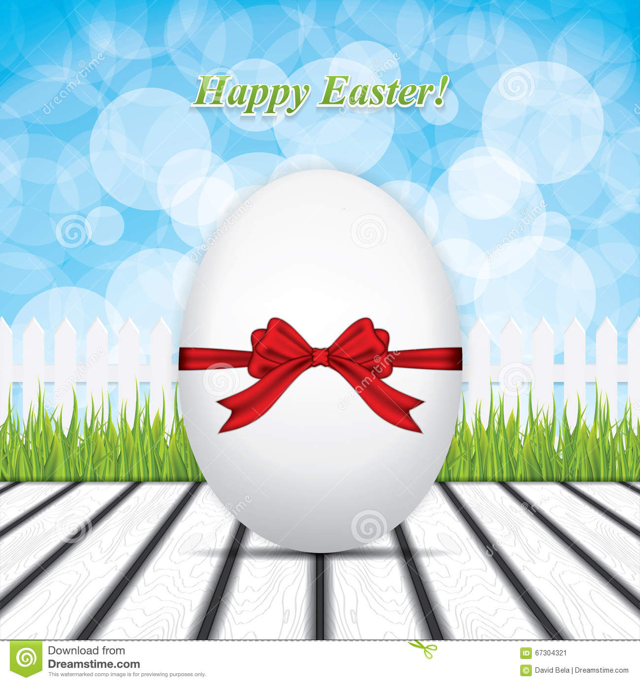 Easter Greeting Card Stock Vector.