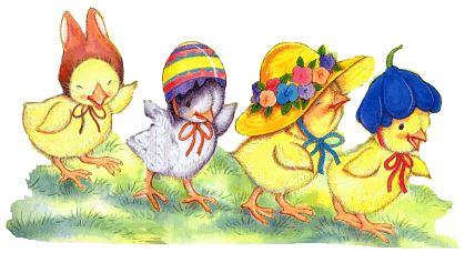 Easter Bonnet Clipart.