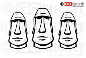 Easter island guitar clipart.