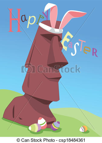 Easter island Clip Art Vector Graphics. 2,016 Easter island EPS.