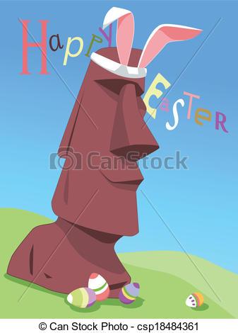 Easter island Clip Art Vector Graphics. 2,016 Easter island EPS.