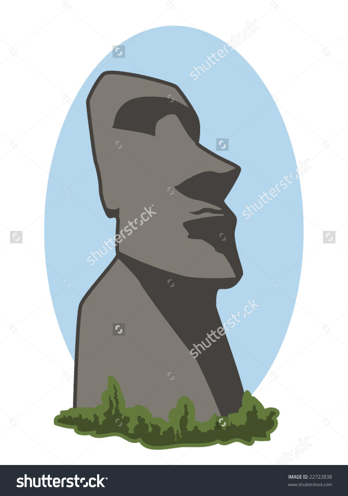 Easter Island Head Stock Vectors & Vector Clip Art.
