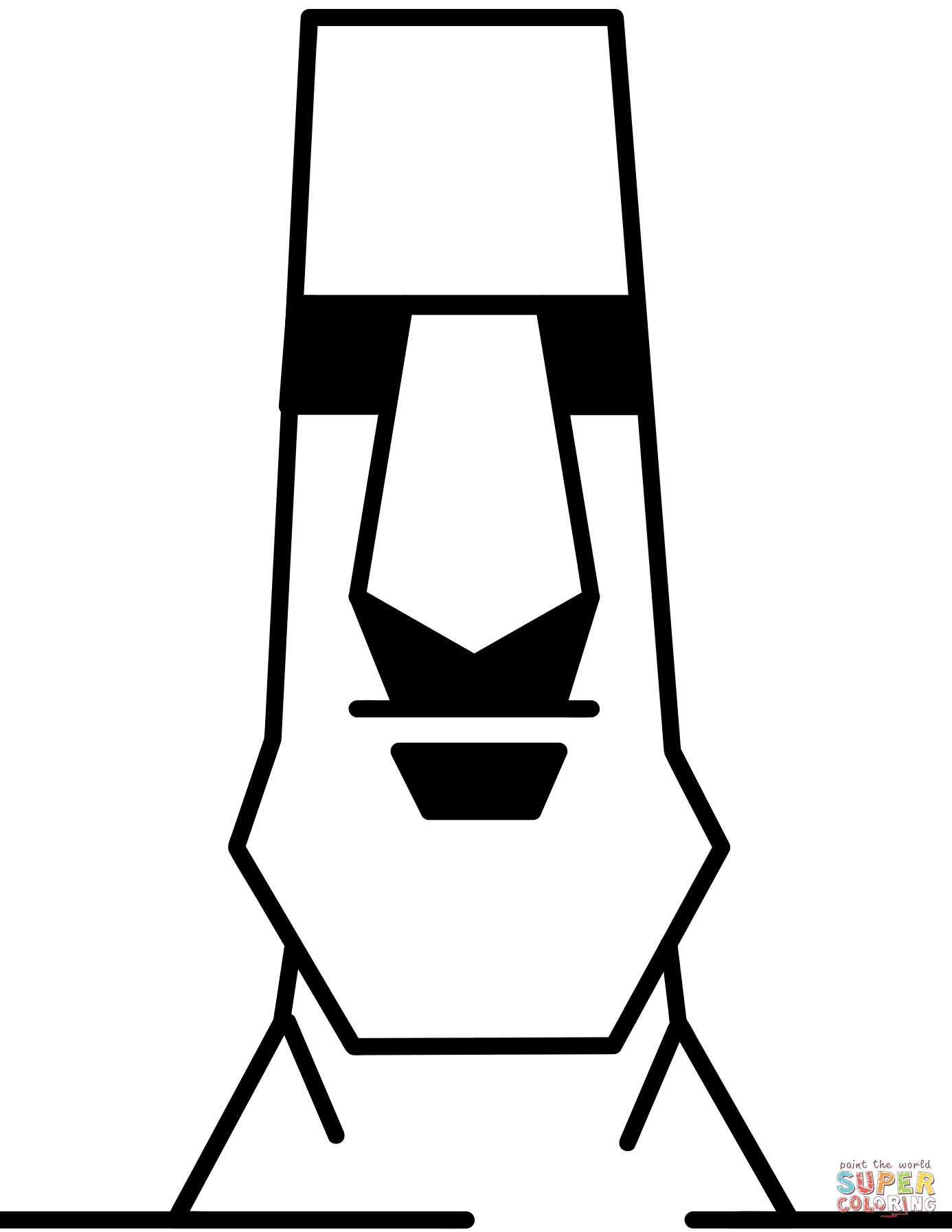 Easter Island Moai Statue coloring page.