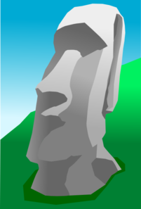 Easter Island Heads Clipart.