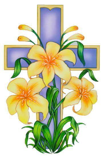 Easter Cross Clipart.