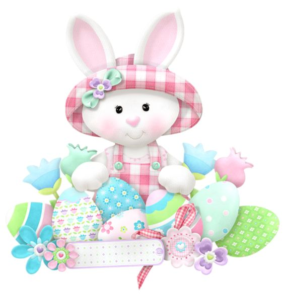 Easter White Bunny PNG Clipart.