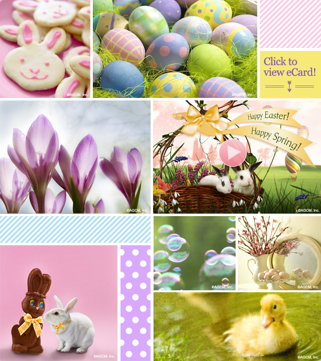 Happy Easter Mood Board.