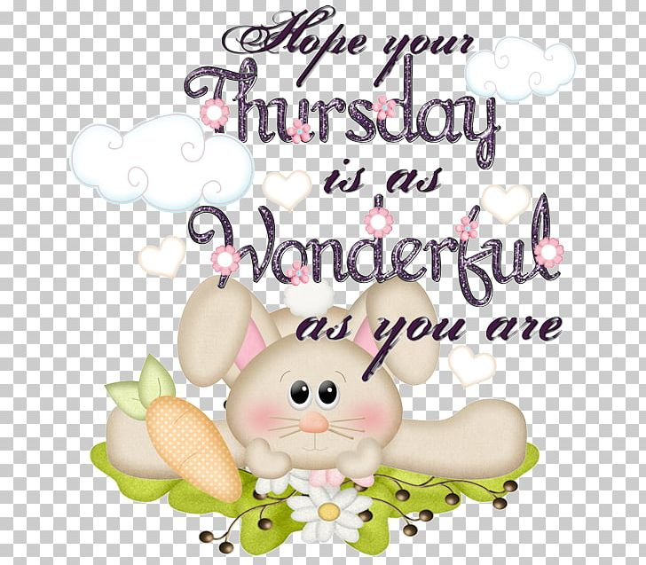 Greeting Morning Thursday Rabbit PNG, Clipart, Easter.