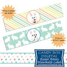 Easter Bunny Clipart, Easter Basket and Egg Digital Clip Art.