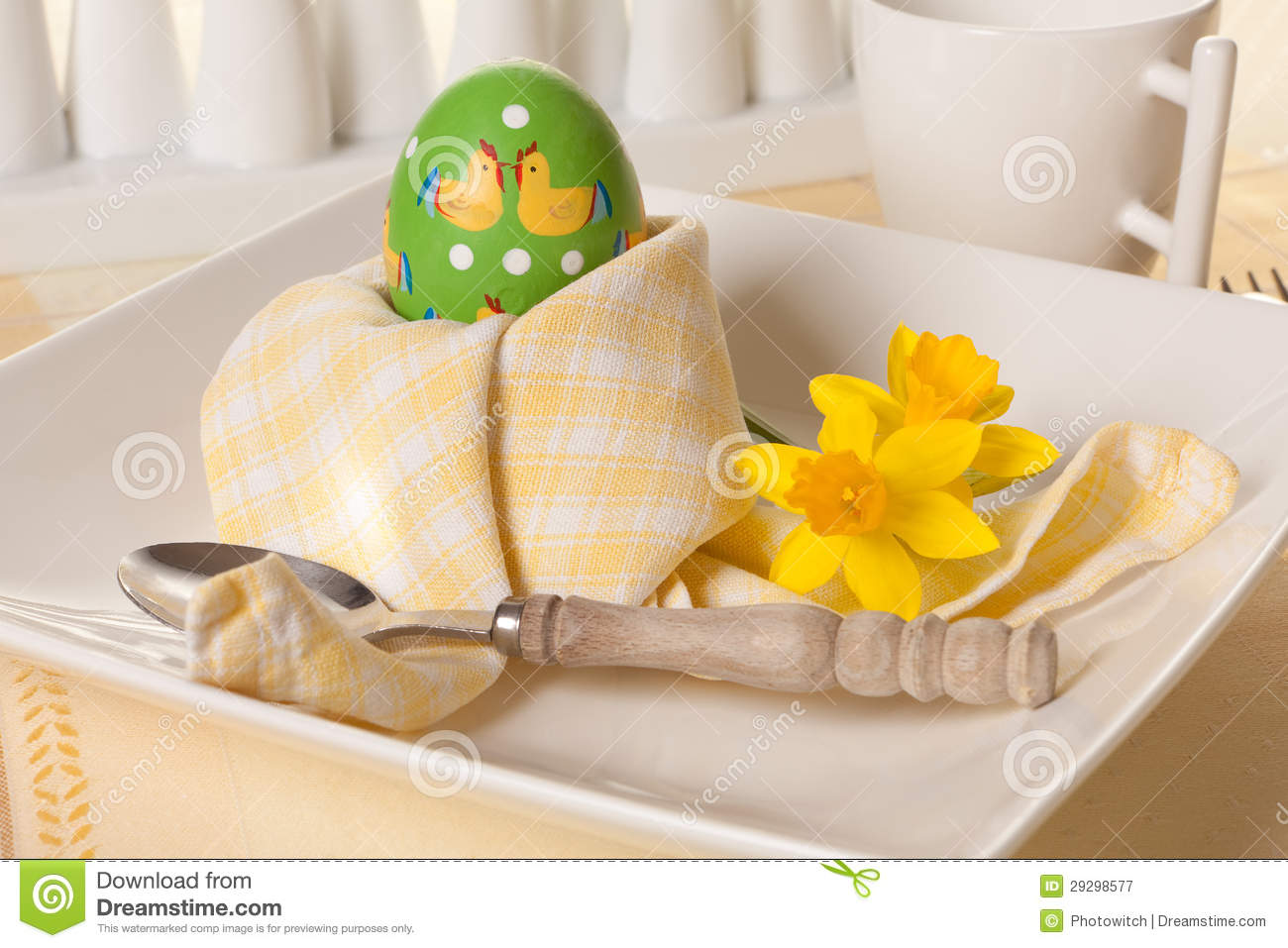 Easter Breakfast Clipart.