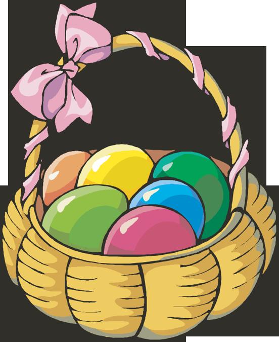 Easter egg basket clip art.
