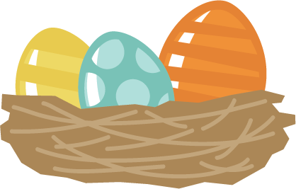 Clipart Easter Egg In A Nest