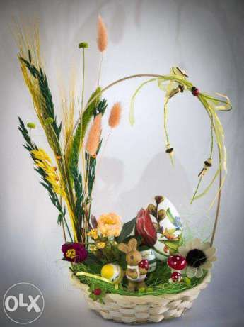 decoratiuni Pasti, Paste, oua, cosulet, coronita, handmade.