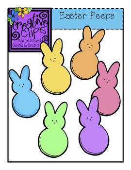 FREE Easter Peeps {Creative Clips Digital Clipart} by Krista.