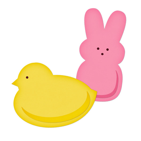 Easter Peeps Clipart.