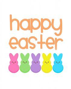 Easter Peeps Clipart.