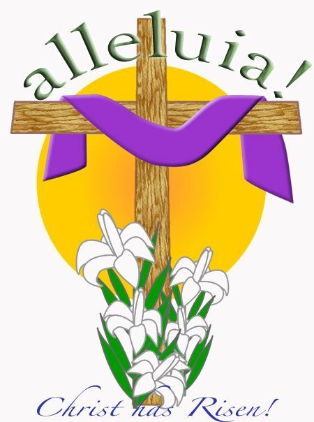 Easter Religious Clipart Coloring Pages.