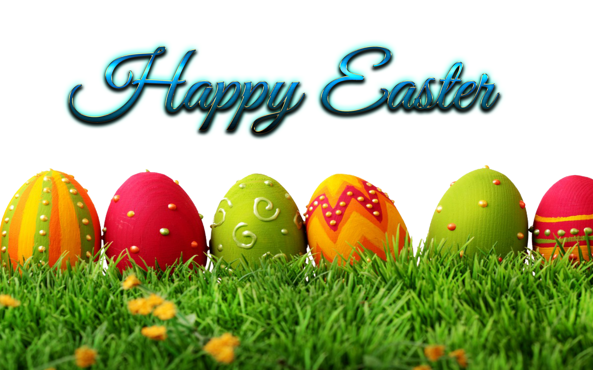 Happy Easter Eggs PNG.