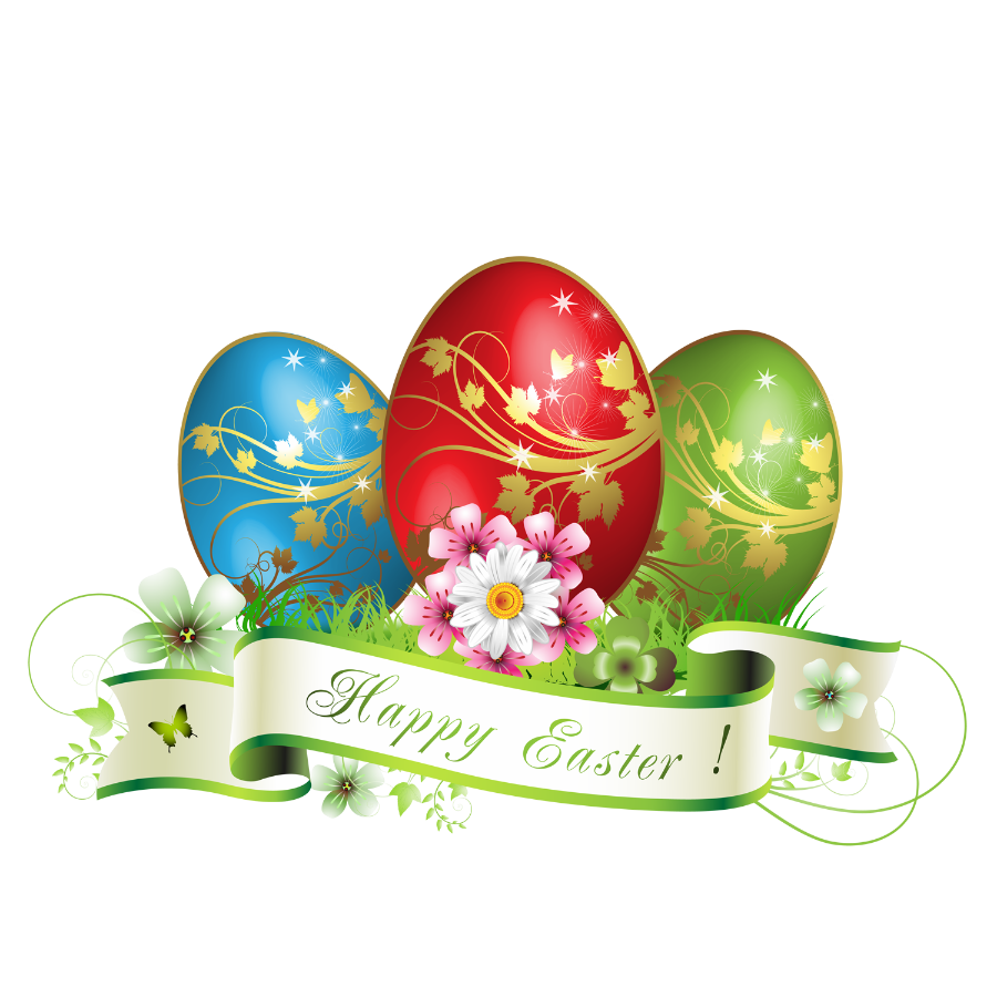Happy Easter Eggs Decoration.