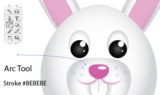 Create a Cute Easter Bunny Vector.
