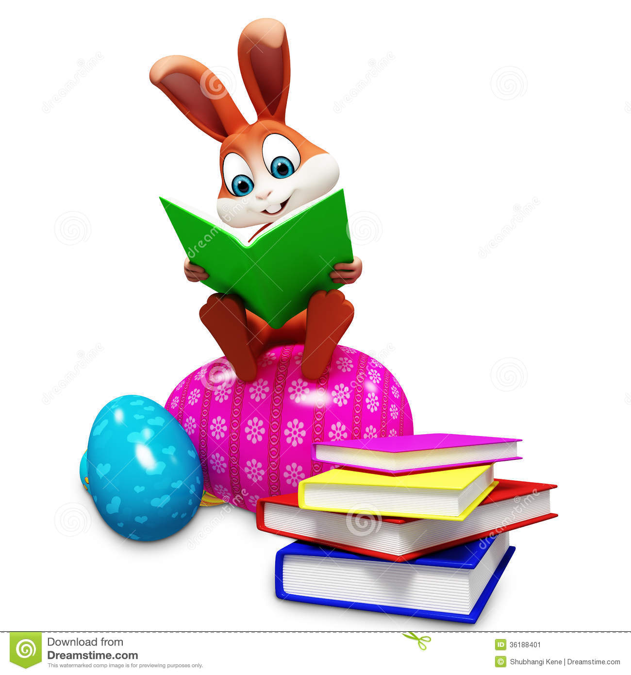 Easter Reading Clipart.