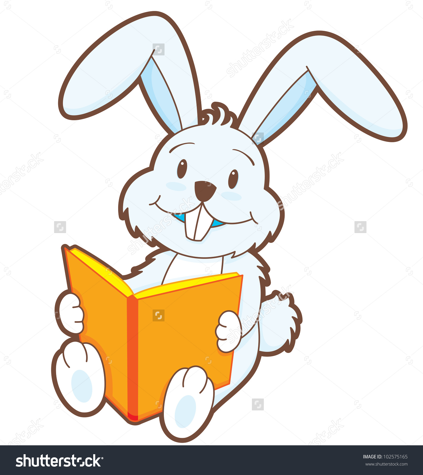 Showing post & media for Cartoon bunny reading books.