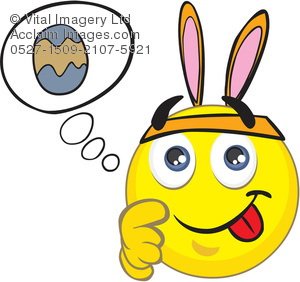 Clipart Illustration of an Easter Smiley Face.