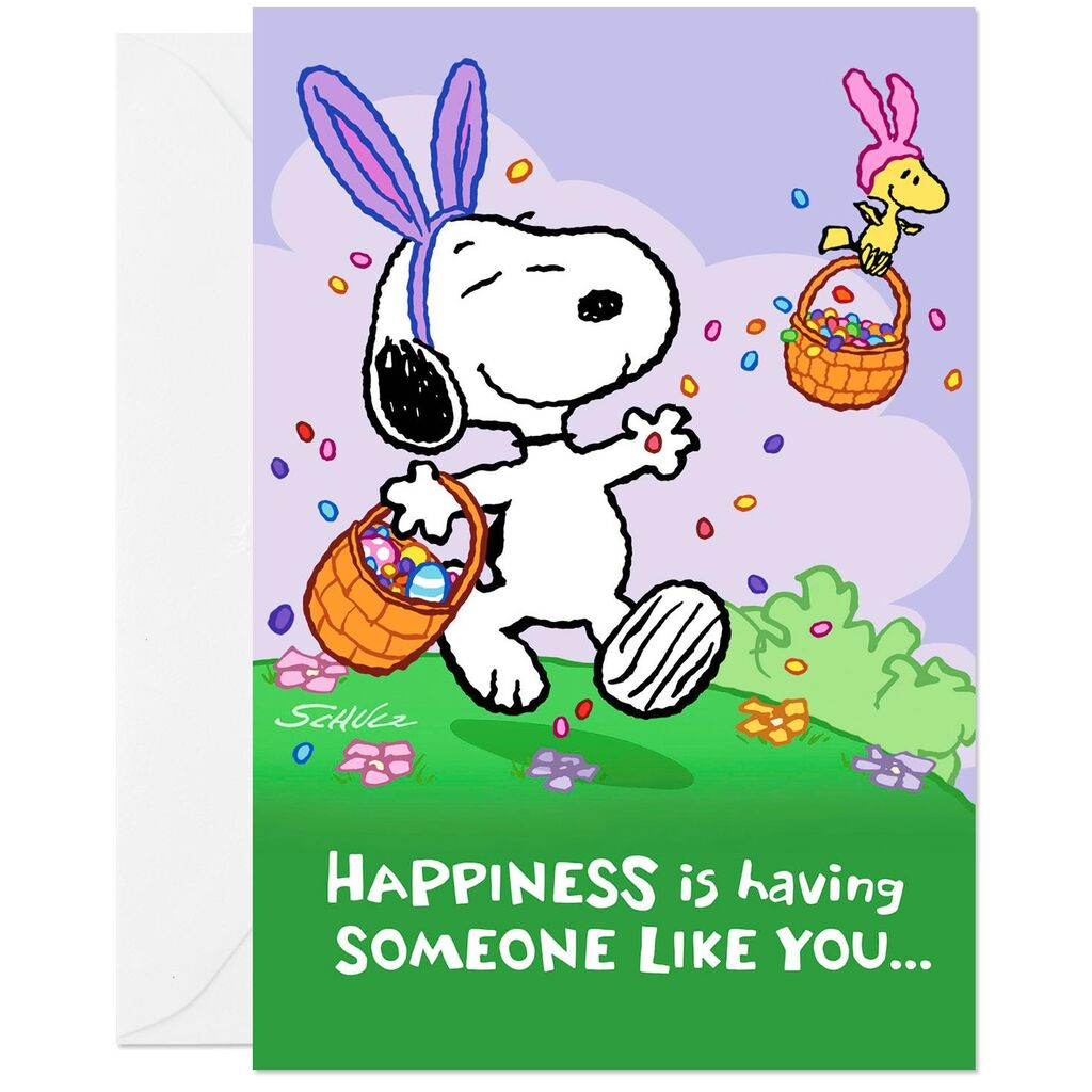 Peanuts® Snoopy and Woodstock Easter Cards, Pack of 6.