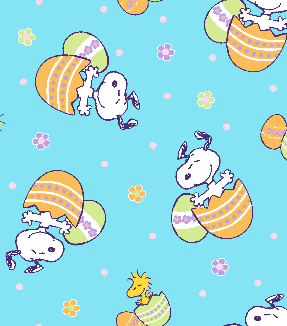 Peanuts Easter Cotton Fabric.