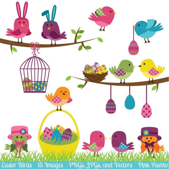 Easter birds clipart clip art easter spring birds clip art.