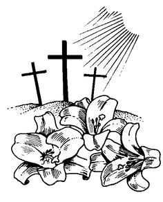 religious easter clipart blac #10