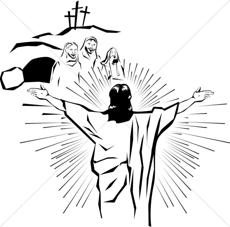 religious easter clipart blac #11
