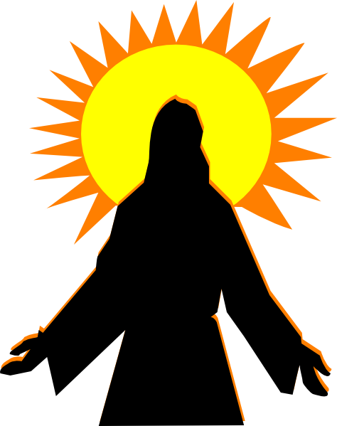easter sunrise clipart black and