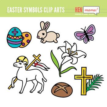 Easter Symbols Clip Arts Set (Religious).