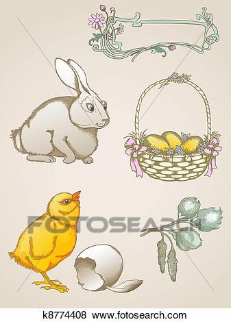 Easter symbols Clip Art.