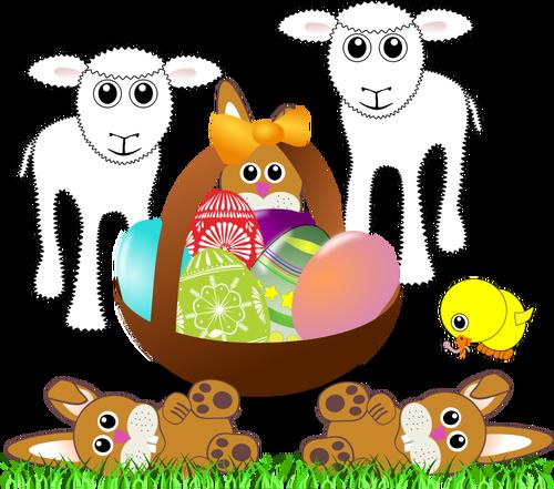 Vector clip art of Easter symbols.