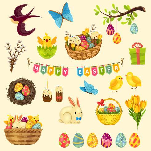 Easter Symbols Set.