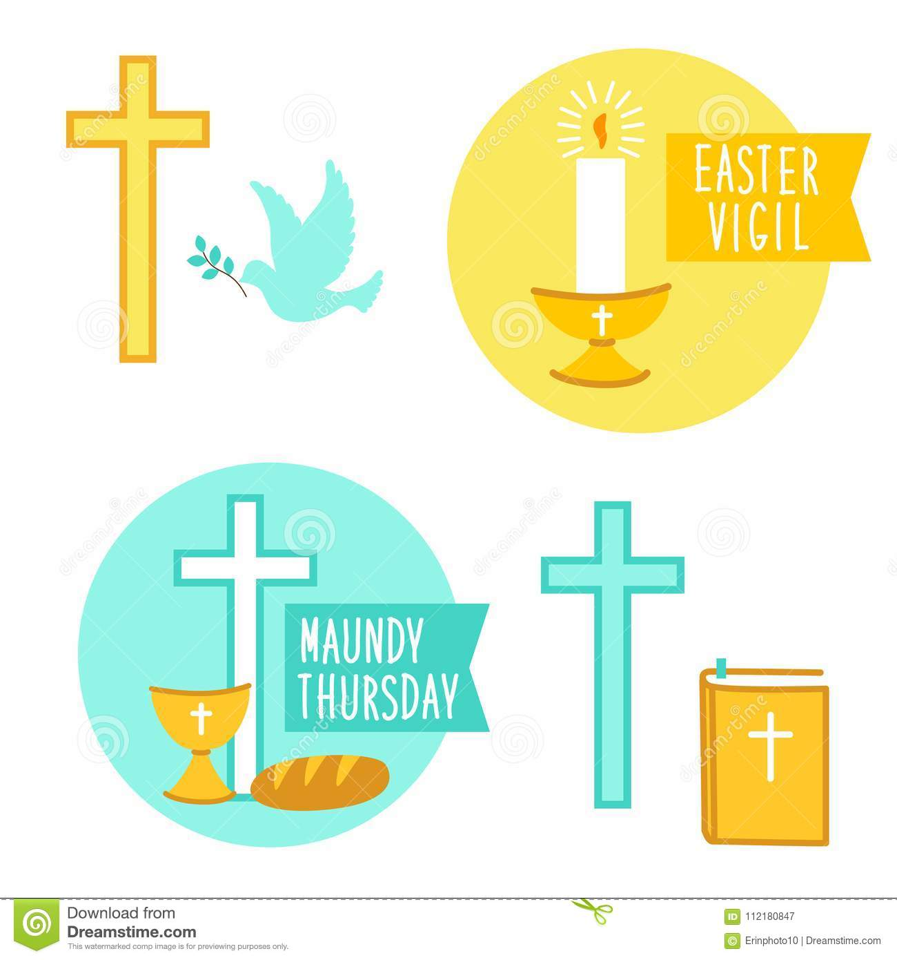 Easter Vigil Stock Illustrations.