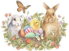 Vintage Easter Clipart.
